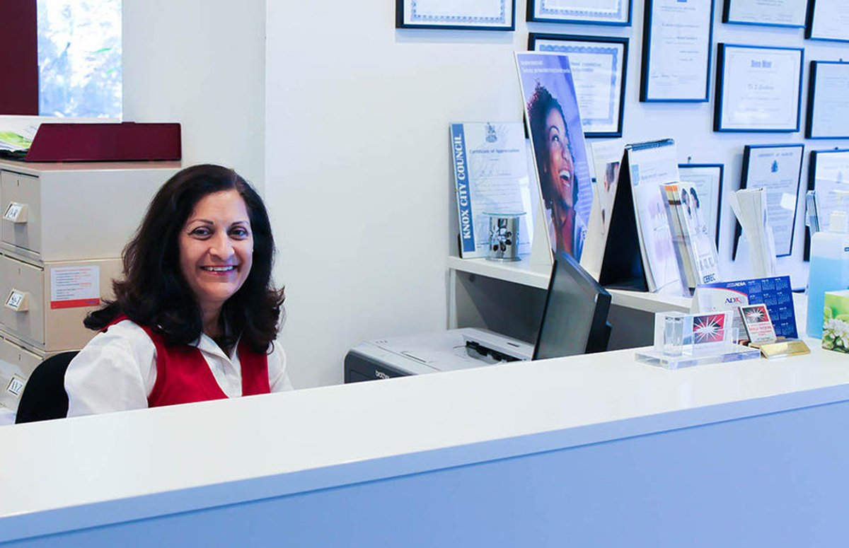 Dr Sheetal Sachdeva BDS Dental Surgeon Dentist Wantirna South Dental Clinic Receptionist
