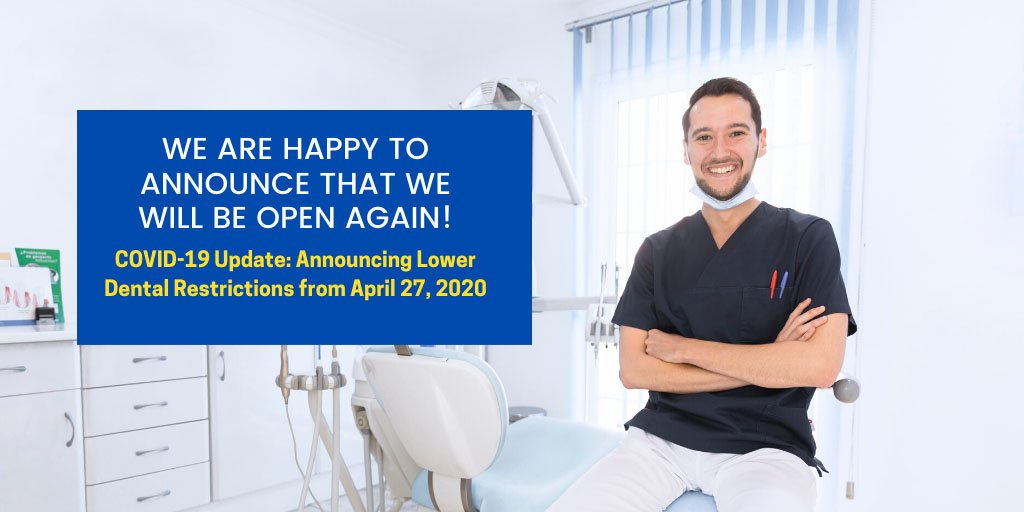 announcing eased dental restrictions from 27 april 2020 wantirna south